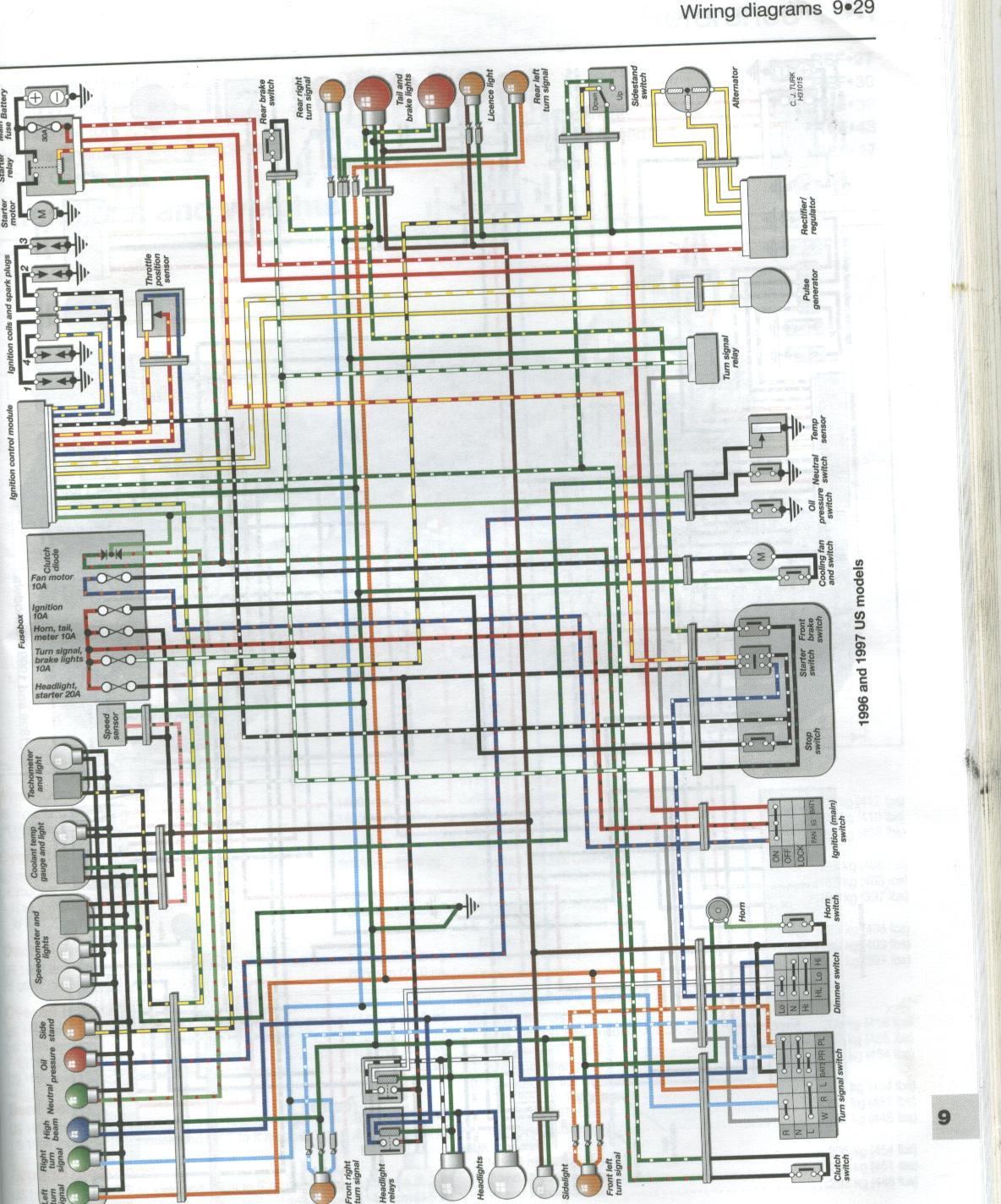 wiring diagrams 93-95,98-99 900rr | Honda Motorcycles - FireBlades.orgFireBlades.org