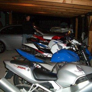 Some of the bikes in the hotel garage